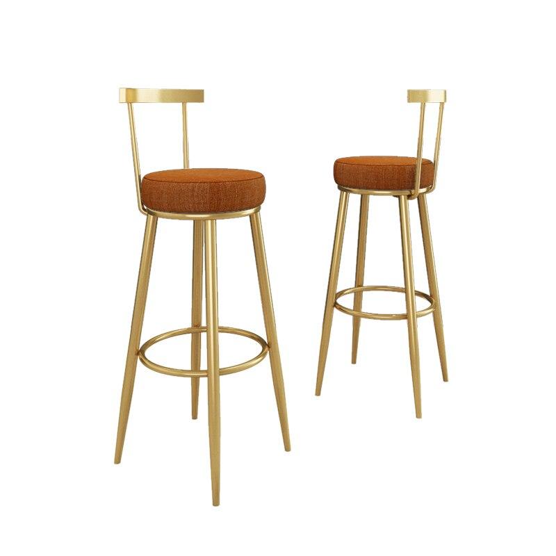 Modern Light Luxury Bar Chair Nordic Back Bar Chair Home High Stool Creative Bar Chair Bar Stool Front High Chair