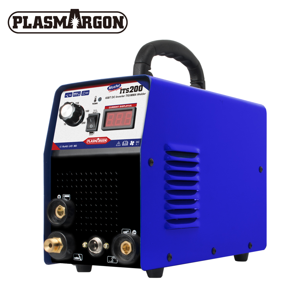 2IN1 INVERTER 110/220V IGBT DC TIG/MMA PLASMA WELDER WELDING MACHINE ITS200 SEMI-AUTOMATIC WELDING WITH FREE PLASMA CONSUMABLES