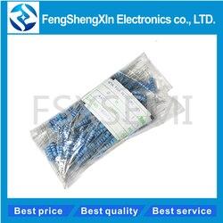 20 pçs/lote 2W filme De Metal resistor 1% 1R ~ 1M 2.2R 4.7R 10R 22R 47R 100R 220R 470R 10 1K K 100K 2.2 4.7 10 22 47 100 220 470 ohm