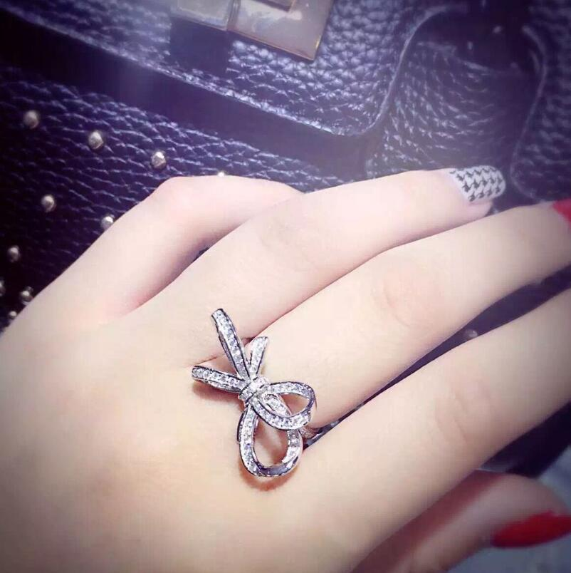 Sterling Silver Three dimensional Butterfly S925 Ring Fashion Lady Engagement Jewelry (MA) - 3