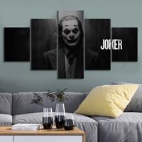 Na płótnie obraz drukowany grafiki ścienne 5 sztuk/szt Joker plakaty filmowe nowoczesny salon modułowy obraz Home dekoracji ramki w Malarstwo i kaligrafia od Dom i ogród na