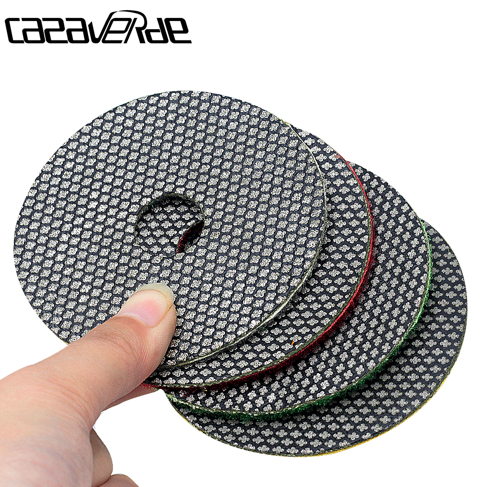 80mm 3 Inch Diamond Electroplated Polishing Pads Dry And Wet For Grinding Polishing Hard Material