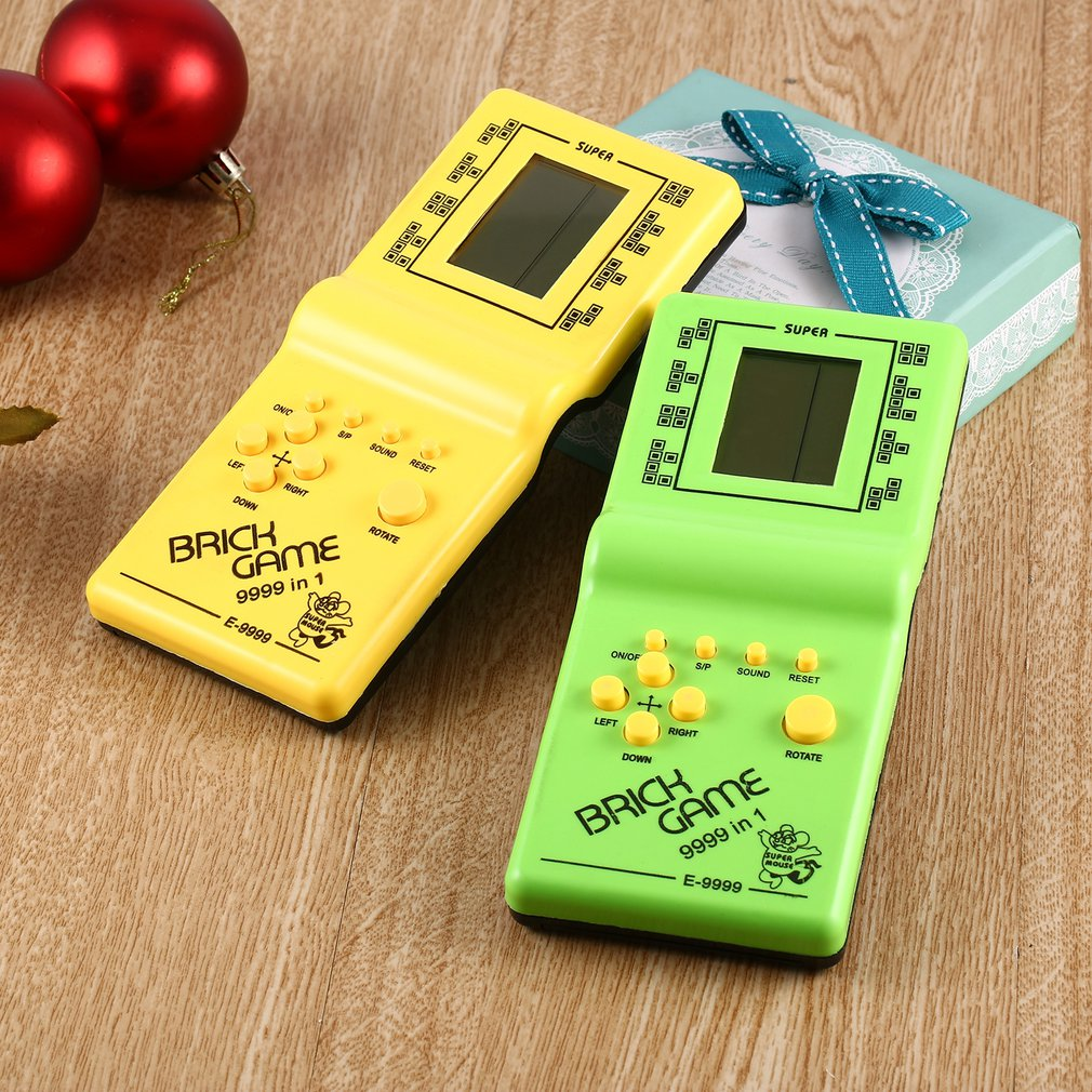 2020 Classic Tetris Hand Held LCD Electronic Game Toys Fun Brick Game Riddle Handheld Game Console kids children gift hot sale