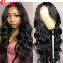 Human-Hair-Wig-Long Lace-Front Brazilian T-Part Plucked Body-Wave Pre 150%Density