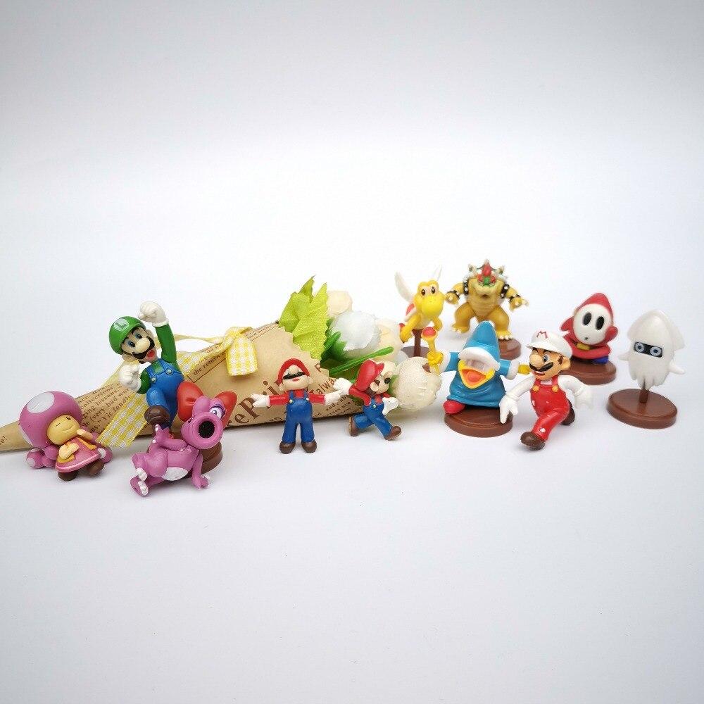Figuras de acción de super mario japonés, 8 Uds. no repeat, modelos de PVC de 4-5cm