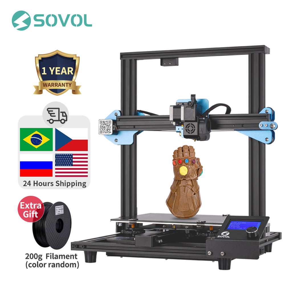 Sovol SV01 3D Printer Direct Drive Extruder 280 240 300mm Meanwell Power Supply 95percent Pre-assembled Imprimante Impresora 3D