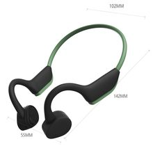 Superior 2019 New Tech Bluetooth 5.0 Headphones With Neck Band Bone Conduction Wireless Earphones(China)