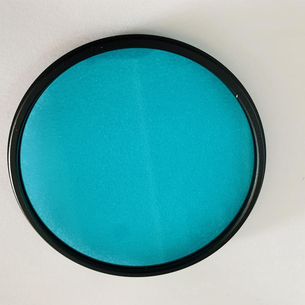Optical Filter Type BG39 Bg39 Blue Color M77 Diameter 77mm With Metal Frame Ring For Camera Lens