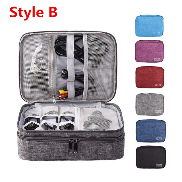 Travel Accessory Digital Bag Power Bank USB Charger Cable Earphone Storage Pouch Large Shockproof Electronic Organizer Package 3