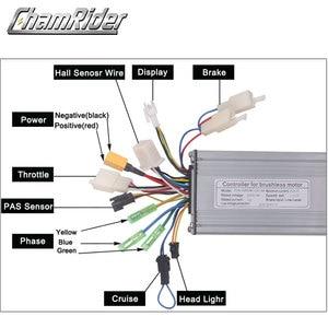 Image 2 - 電動自転車36v 48v 500ワット電動自転車ブラシコントローラデュアルモードホールセンサとホールセンサレスktシリーズサポートled液晶