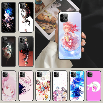 puella magi madoka magica Phone Case Cover Hull For iphone 5 5s se 2 6 6s 7 8 12 mini plus X XS XR 11 PRO MAX black painting image