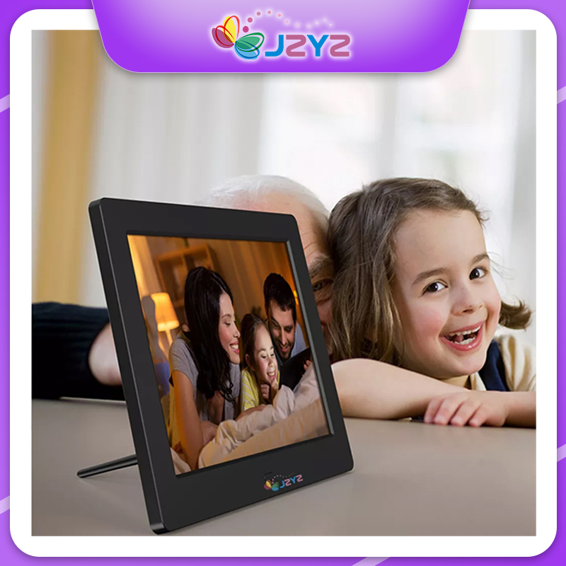 8 inch Screen Digital Photo Frame HD 1024x768 Remote Control Function Picture Video Player Music Calendar Day Clock Album Gift