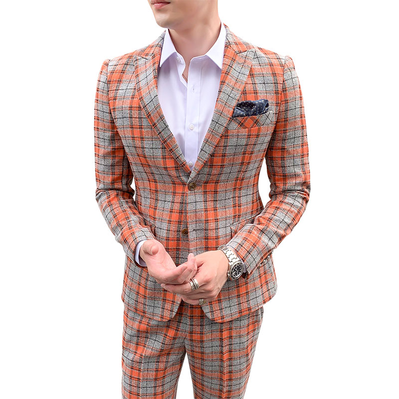 Image 5 - 2019 Plaid Suits Check Business Traje De Boda Mens Suits Designers New Tuxedo Groom Dress Ternos Masculino Wedding Suits For Men-in Suits from Men's Clothing