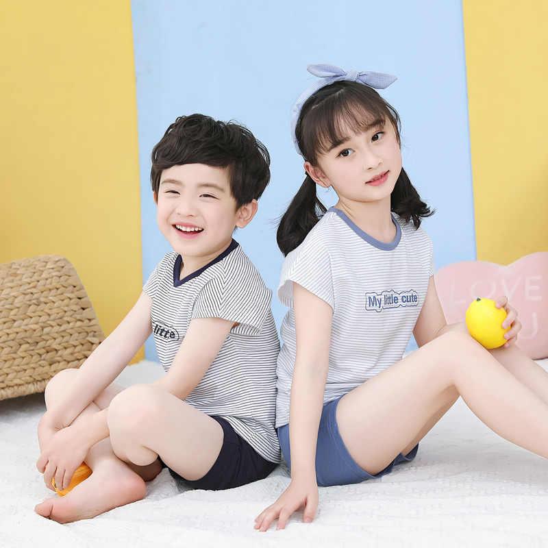 ¡Novedad de verano! Pijamas para niños y niñas, ropa de manga corta para niños, ropa de dormir, conjuntos de pijamas de algodón para niños de 4, 6, 8, 10, 12 y 14 años