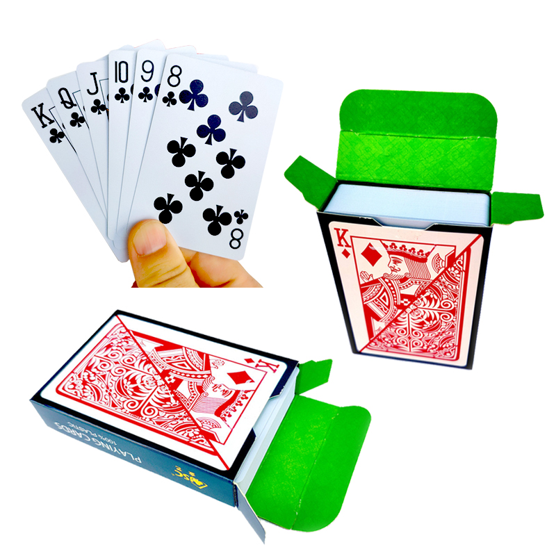 1 Deck/54pcs Texas Hold'em Plastic Playing Card Game Poker Cards Waterproof And Dull Polish Poker Star Board Games 58*88mm Cards