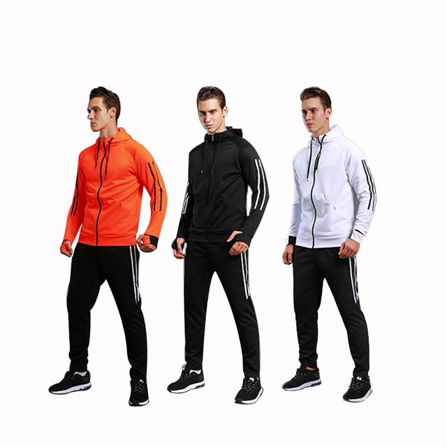 Soccer Jacket &Football Pants Training Suit Soccer Match Appearance coat Long Sleeve Sportswear Soccer Sets Running Sets