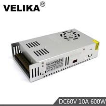 Transformateur dalimentation cc simple sortie 60V 10A 600W transformateurs AC110V 220V à DC60V alimentations SmpS pour imprimante 3D CCTV CNC