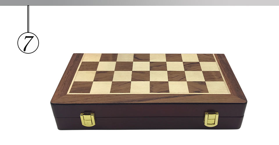 Easytoday Metal Glossy Golden And Silver Chess Pieces Solid Wooden Folding Chess Board High Grade Professional Chess Games Set (7)