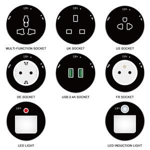 power track adapter EU European standard UK British Standard Socket Universal sockets Replaceable High-end quality