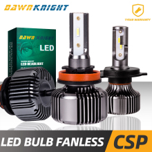 Fanless H4 Led Bulb H1 H7 H11 9005HB3 9006HB4 9012 H27 880 Passive Cooling HeadLight 120000LM Mini Size Auto Lamp