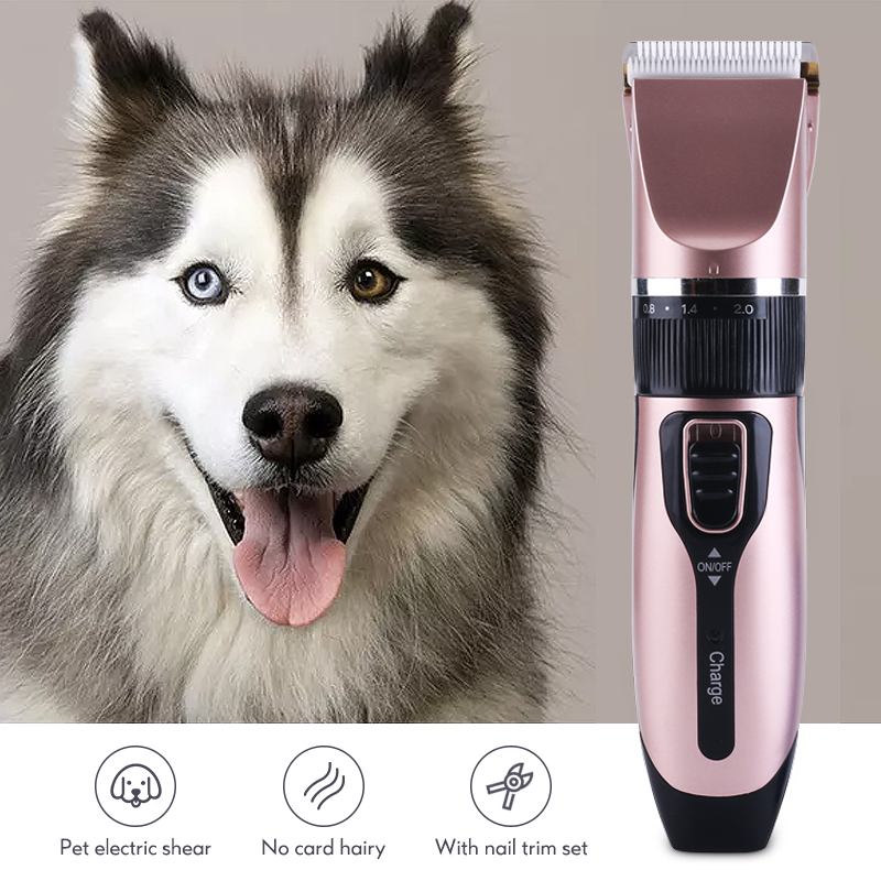 Professional Pet Hair Clippers USB Electric Strong Power Haircut Machine Rechargeable Grooming Kit Pet Shaver Cat Dog Trimmer 45