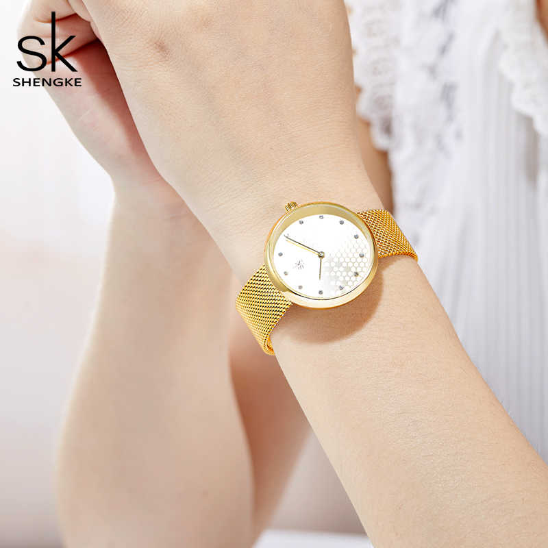Shengkeหรูหราผู้หญิงนาฬิกาแบรนด์ยอดสุภาพสตรีนาฬิกา2019ควอตซ์กันน้ำนาฬิกาข้อมือผู้หญิงZegarek Damskiนาฬิกาของขวัญ