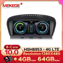 MEKEDE MSM8953 8 core Android 10 4+64G 4G LTE Car Multimedia player for BMW 5 series E60 E61 E62 E63 3 series E90 E91 CCC/CIC