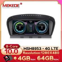 MEKEDE Reproductor multimedia para coche, dispositivo para carro con android 10, 8 core, 4G LTE, 4 + 64G, para BMW 5 serie E60, E61, E62, E63, 5 serie E90, E91, CCC/CIC, MSM8953