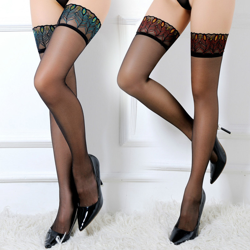 Hot DealsStockings Tights Pantyhose Sex Lingerie Lace High-Belt Over-Knee Floral Erotic Sexy Women