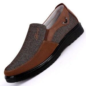 Image 1 - Zapatos de marca de goma adultos para Hombre, Zapatos planos sin cordones, cómodos, transpirables, Tenis masculinos, Zapatos para Adulto, zapatillas de Hombre, zapatillas para Hombre