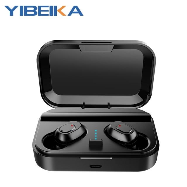 New D2 Wireless Headphones Bluetooth 5.0 Earphone TWS HIFI Mini In ear Sports Running Headset SupportPhones HD Call Game Noise