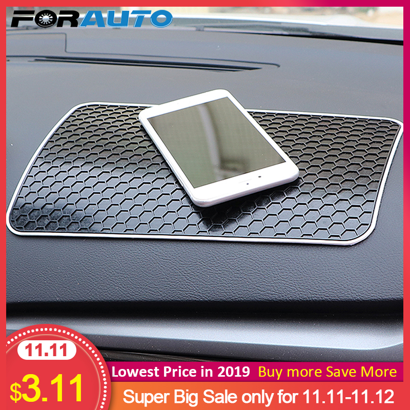 FORAUTO Car Anti Slip Mat Auto Silicone Non Slip Mat Pad Car Dashboard Sticky for Mobile Phone Coin Key Holder Auto Accessories-in Anti-Slip Mat from Automobiles & Motorcycles