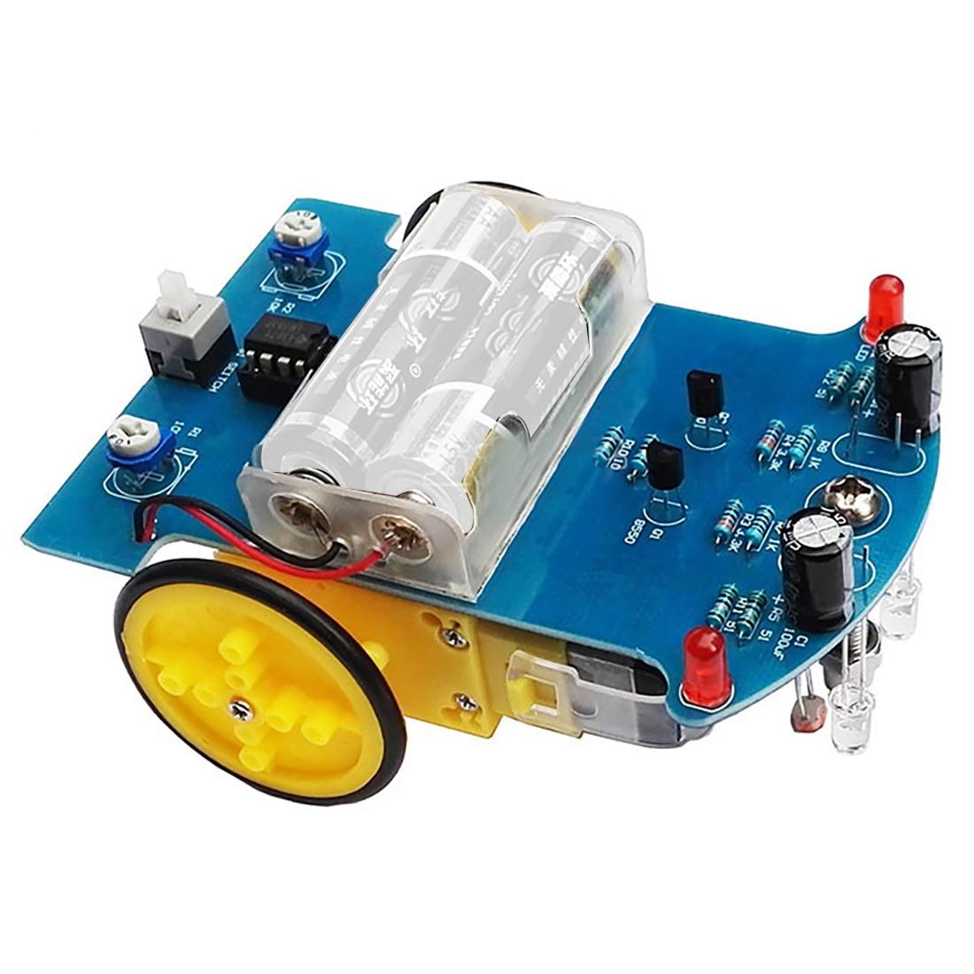 D2-1 DIY Набор интеллектуальная отслеживающая линия умный автомобильный комплект TT Мотор электронный умный патруль автомобильные запчасти эл...