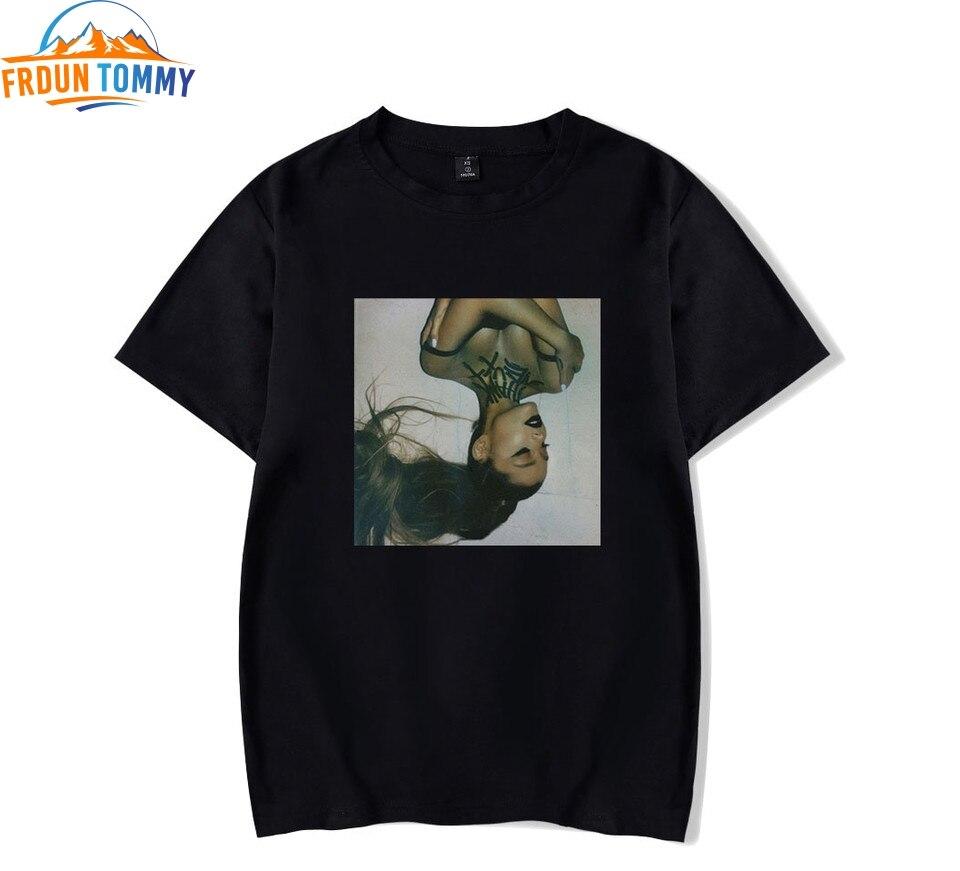 Ariana Grande New Print 2019 Casual T-shirts Women Men Clothes Ariana GrandeHot Sale Tops Short Sleeve T-Shirts Plus Size Custom