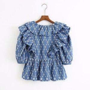 Женская блузка с вышивкой goth zaraing vadiming sheining zanzeaing, топ с короткими рукавами и принтом, лето 2020, C2123