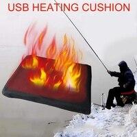 Timing ajustável aquecimento almofada almofada usb portátil warmn aquecimento inflável almofada assento aquecido almofadas para pesca de inverno esqui