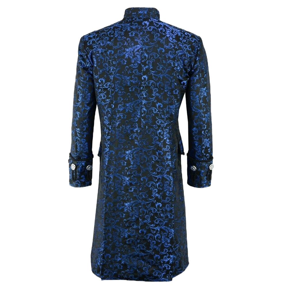 Hfeb2af193f8f40f18496372ee5e68faaU New Men's Vintage Tailcoat Jacket Gothic Steampunk Long Sleeve Jacket Victorian Dress Jacket Halloween Casual Button Clothing