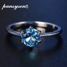 Женское кольцо из серебра 100% пробы с аквамарином