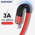 NOHON USB кабель для передачи данных для iPhone 12 11 Pro Max Xs X XR 8, 7, 6, 6s Plus, 5s SE iPad шнур для быстрой зарядки и передачи мобильный телефон для зарядки и пер...