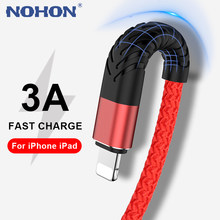Nohon cabo usb para iphone 12 11 pro max xs x xr 8 7 6s mais 5S se ipad cabo de carregamento rápido carregador do telefone móvel dados longo fio