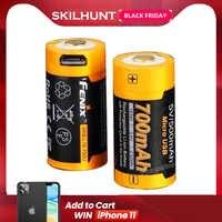 Bateria recarregável recarregável do li-íon ARB-L16-700U rcr123a de fenix 700 usb 16340 mah