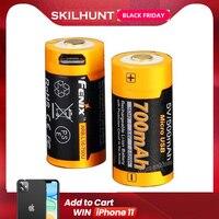 Fenix ARB L16 700U batería recargable por USB 700mAh Li ion 16340 RCR123A|batteries batteries|battery battery battery|battery 16340 -