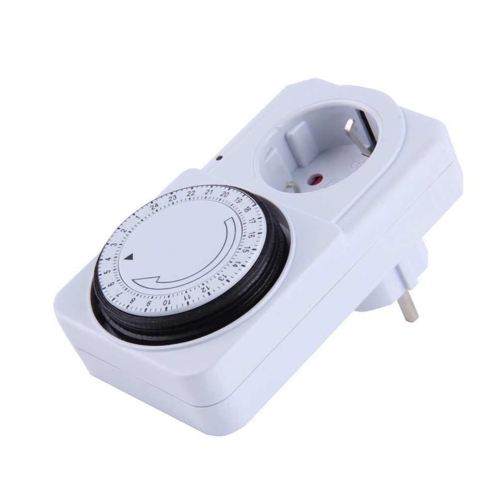 24 heures mécanique prise électrique programme minuterie interrupteur d'alimentation prise économiseur d'énergie prise US/ue couleur blanche