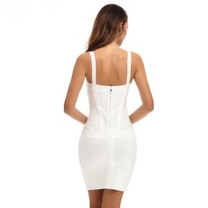 Image 5 - 2020 חדש נשים סקסי ספגטי רצועת ריון HL אלסטי סלבריטאים תחבושת שמלת Bodycon מועדון ערב מסיבת שמלות זרוק ספינה