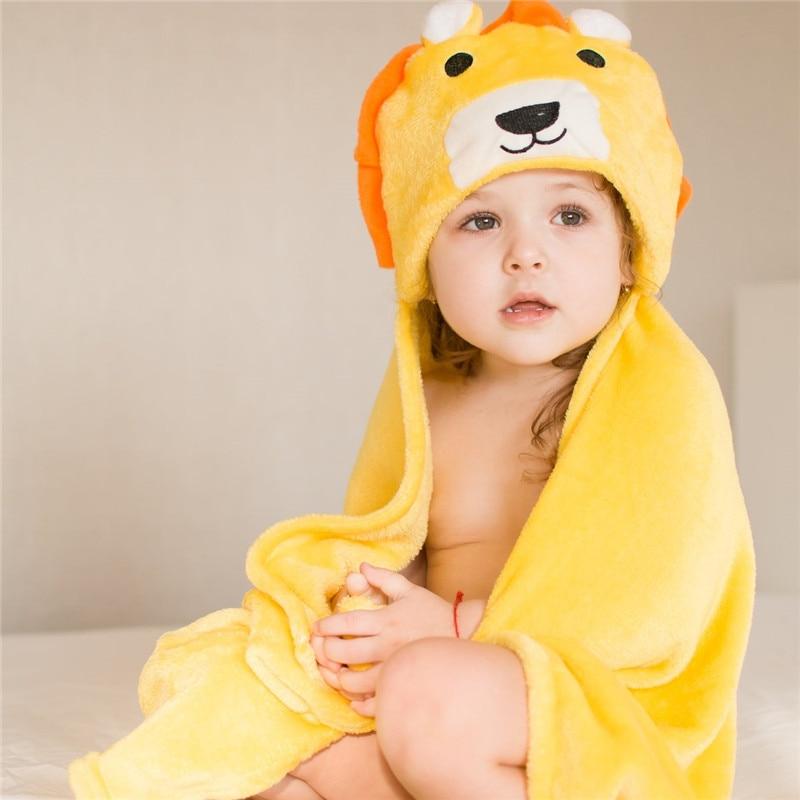 Newborn Hooded Towel Children Baby Spa Towel For Baby Bath Velvet Baby Blanket Kids Bebe Bathrobe Infant Bath Hood Beach Towels