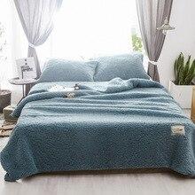 Мягкие теплые зимние одеяла с наволочками Многофункциональный плюшевый шерпа пледы Комплект постельного белья пододеяльник 3 шт. комплект постельное покрывало
