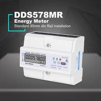 SINOTIMER RS485 Modbus Multifunctional DIN Rail 3 Phase 4 Wire 7P LCD Wattmeter Electronic Power Consumption Energy Meter