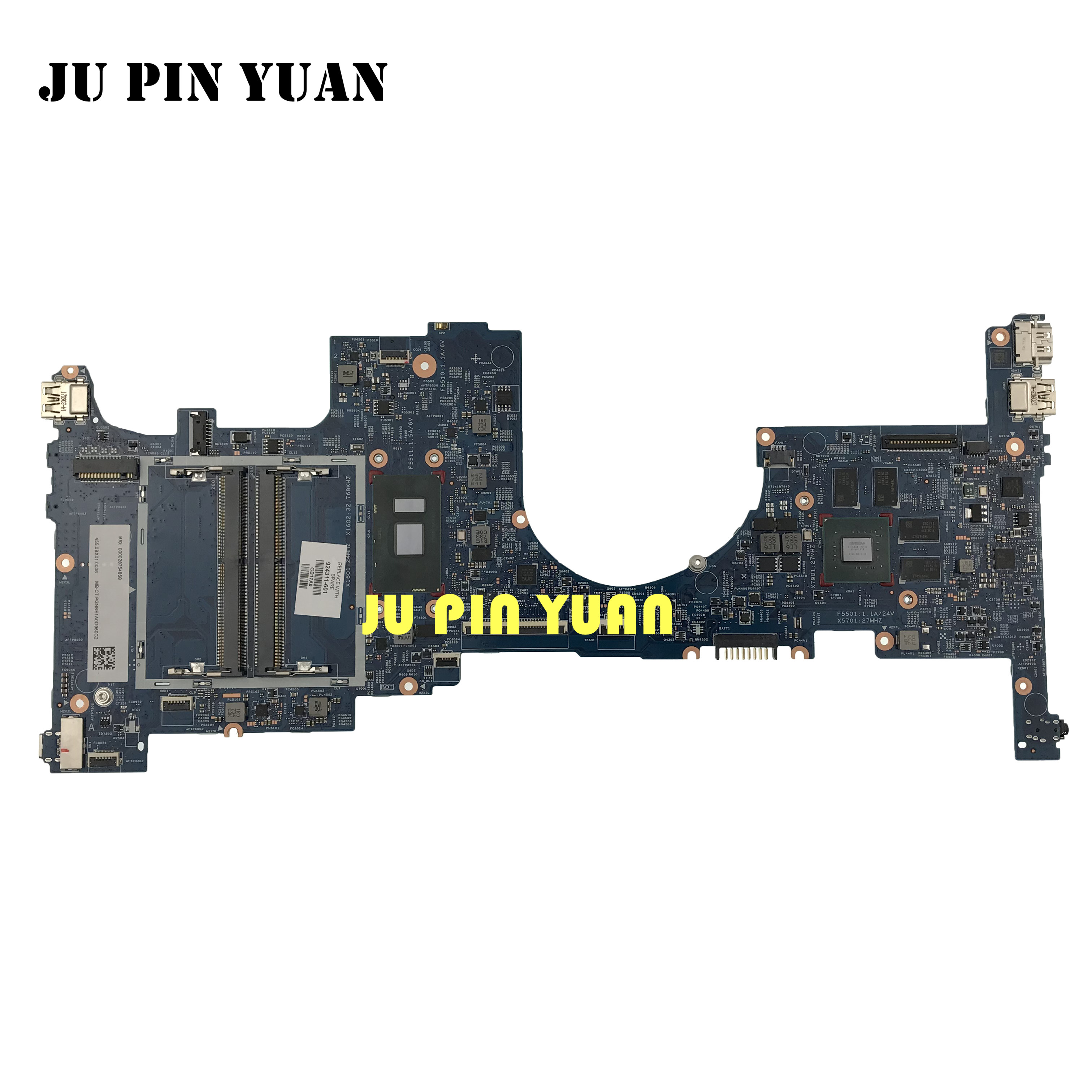 924311-601 924311-001 motherboard For <font><b>HP</b></font> <font><b>ENVY</b></font> <font><b>X360</b></font> <font><b>CONVERTIBLE</b></font> 15-BP Notebook 940MX 4GB i7-7500U 100% fully Tested image