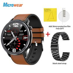 Новый Microwear L11 Смарт-часы Полный сенсорный Экран спортивные трекер сердечного ритма bluetooth Водонепроницаемый IP68 мужские умные часы