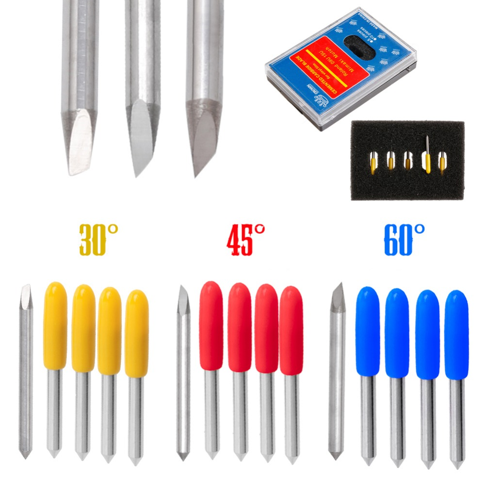5Pcs 30 45 60 Degree Blade Cutting Plotter For Mimaki Vinyl Cutter Blade Set Au13 19 Droship